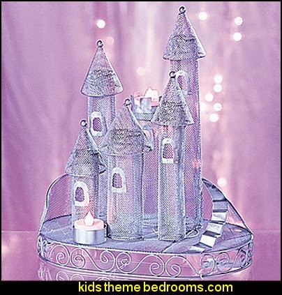 Silver Fairytale Castle Centerpiece