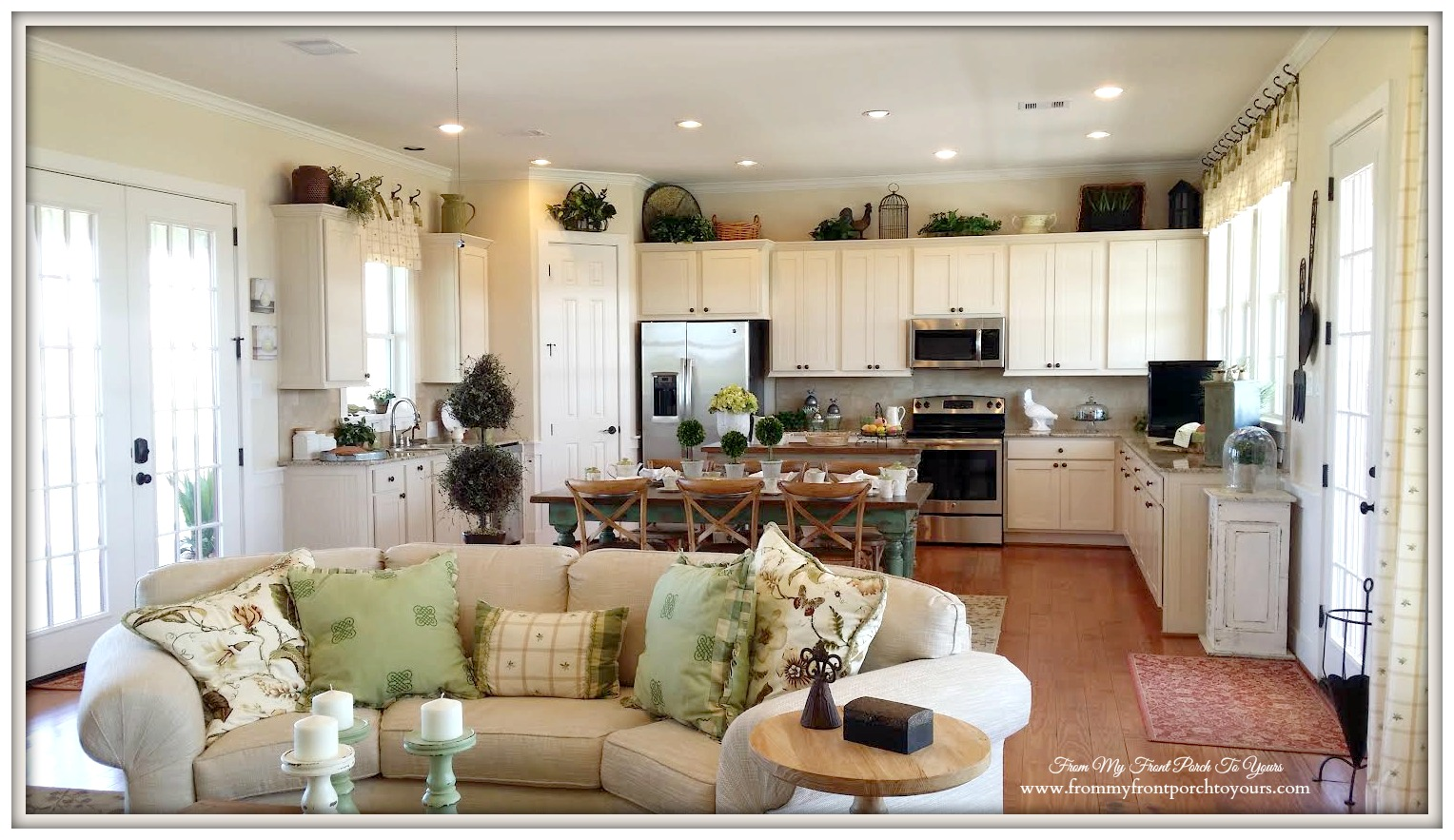 Farmhouse Kitchen-Farmhouse Model Home-Trendmaker Homes- From My Front Porch To Yours