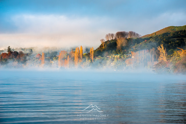 autumn sunrise lake tarawera
