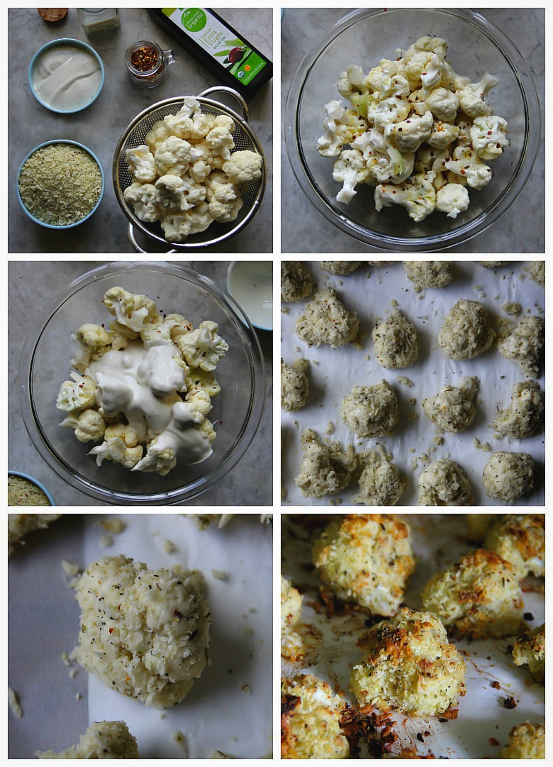 Cauliflower Ranch-Parmesan Baked Bites