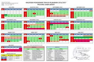 Kalender Pendidikan Tahun 2016-2017 Jawa Barat-Guru Pantura
