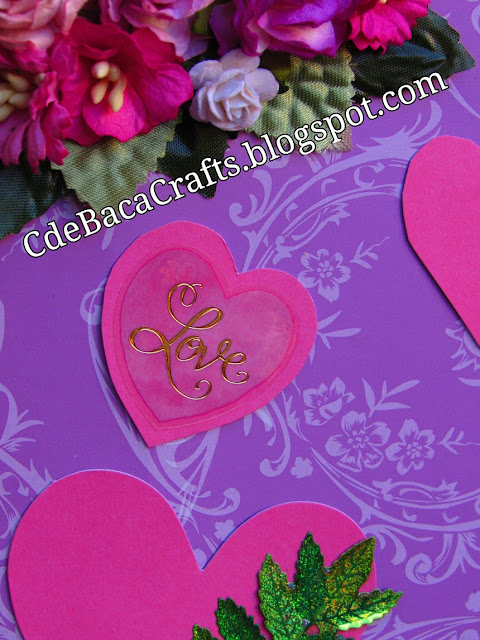 Valentines Day Card by CdeBaca Crafts.