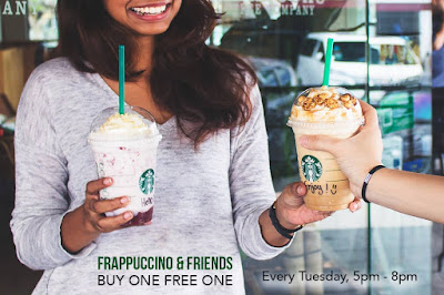Malaysia Starbucks Summer Beverages Frappuccino Buy 1 Free 1 Promo