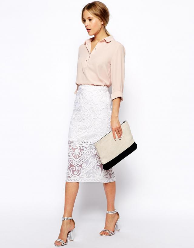 #whiteskirt, what to wear now by Street Style Seconds