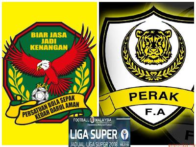 Live Streaming Kedah vs Perak Liga Super 7 Februari 2018