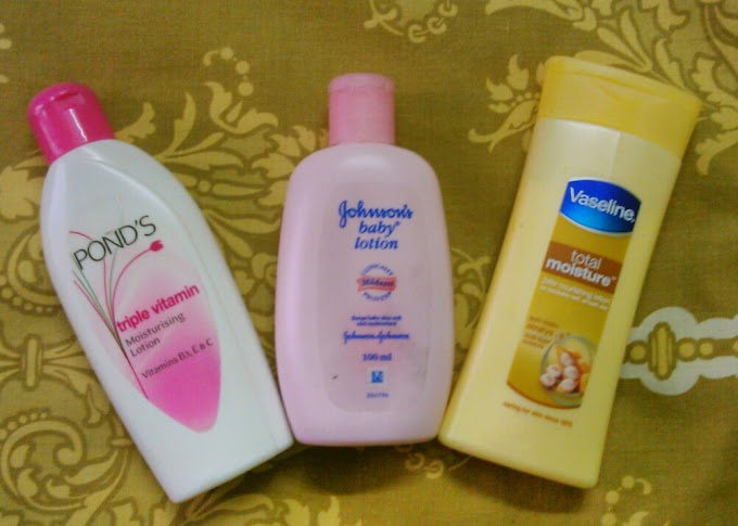 Three moisturizing lotions which never failed for me