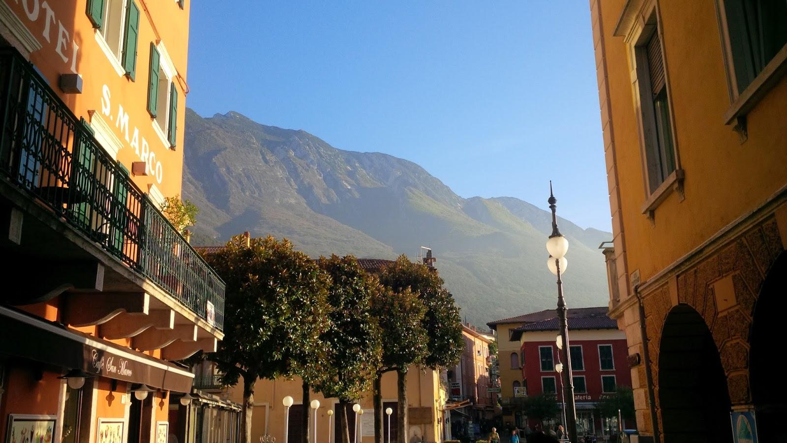 Malcesine with Mount Baldo as its backdrop, Veneto, Italy