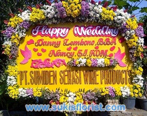 bunga-papan-wedding-mewah-by-toko-bunga-surabaya-sukis