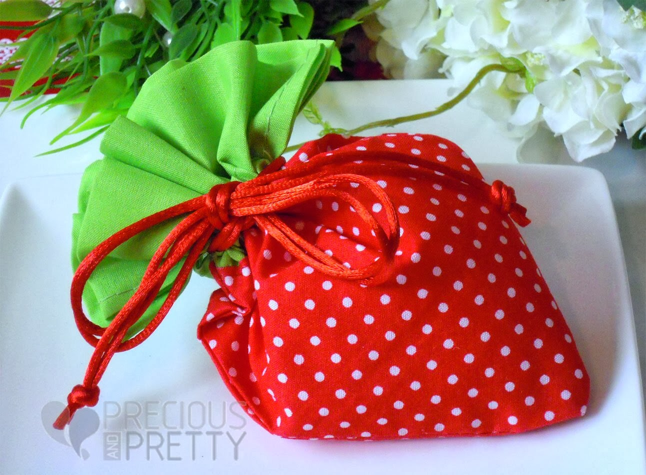 pouches for baptism strawberry shaped