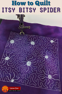 machine quilting spiders | free motion quilting