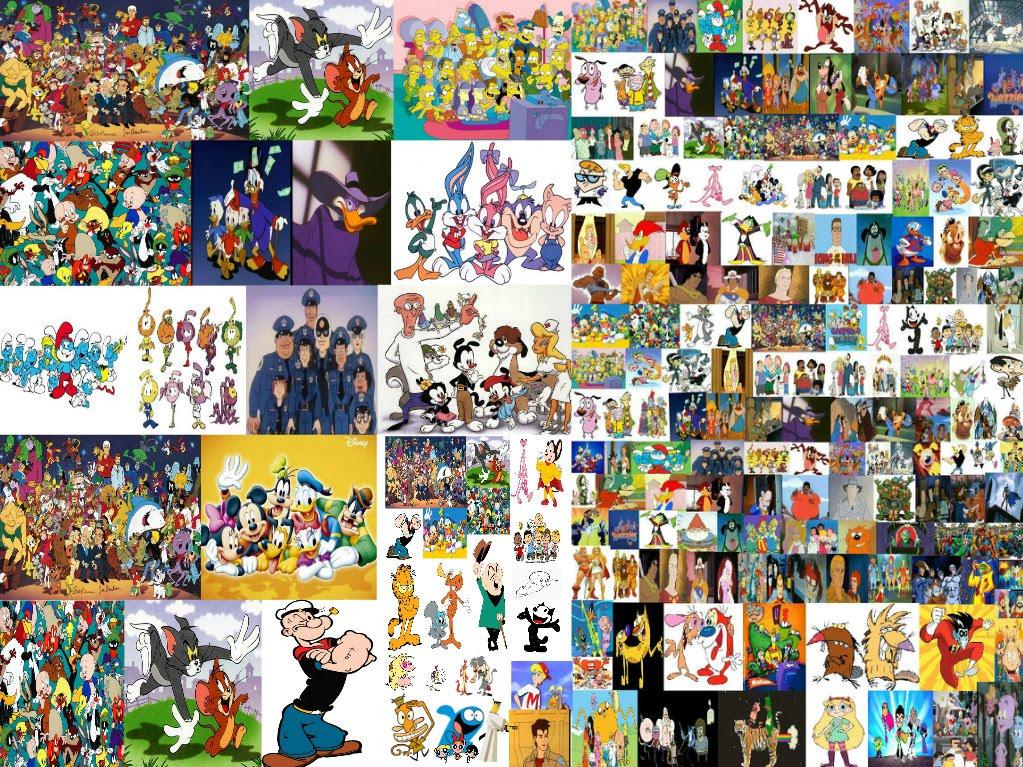 Famosi cartoni animati americani statunitensi ed europei