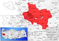 Saruhanlı ilçesinin nerede olduğunu gösteren harita