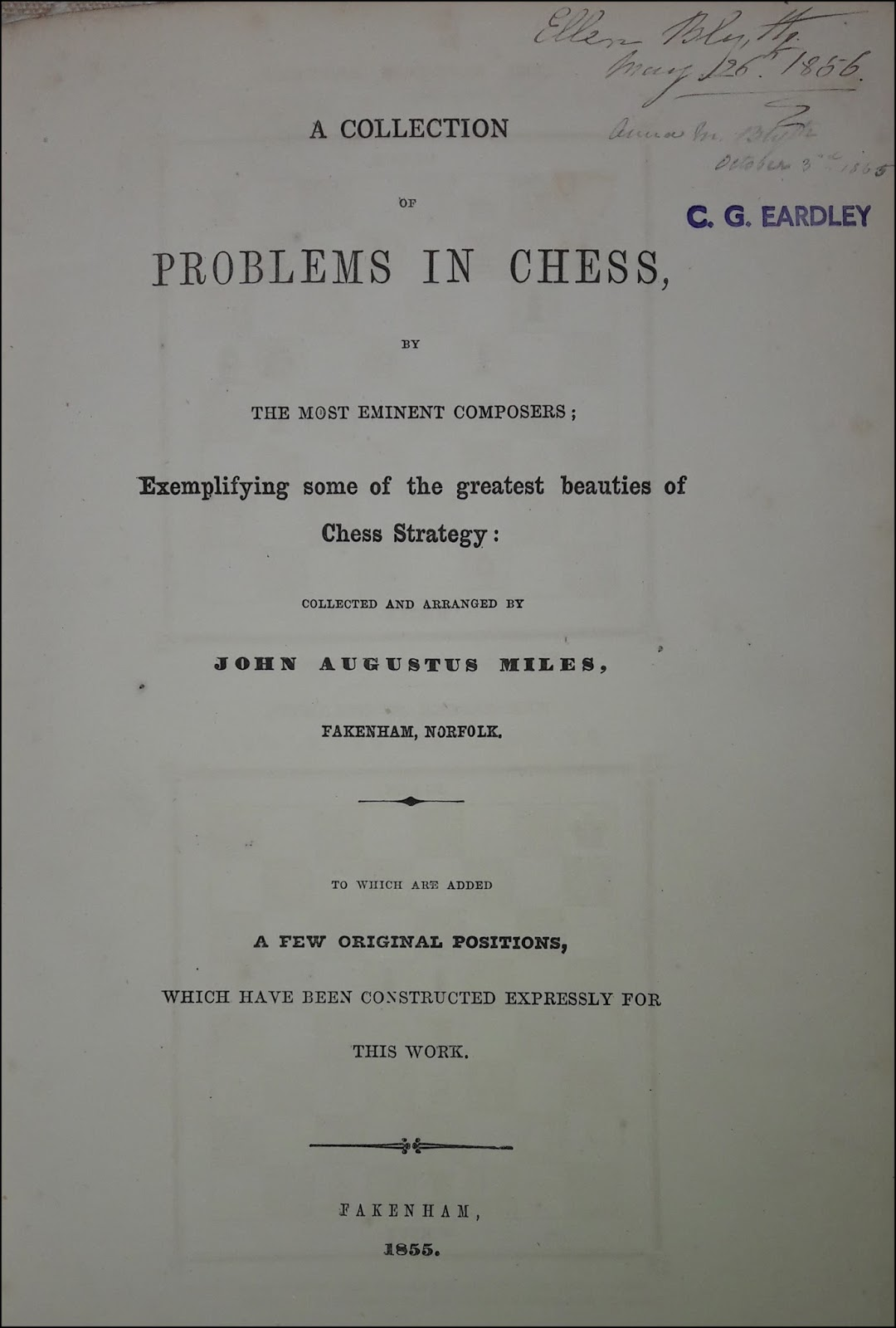 Chess Book Chats: 19th century additions to Betts