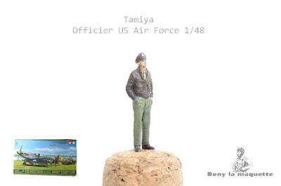 Figurine de l'USAF WWII  Tamiya au 1/48.