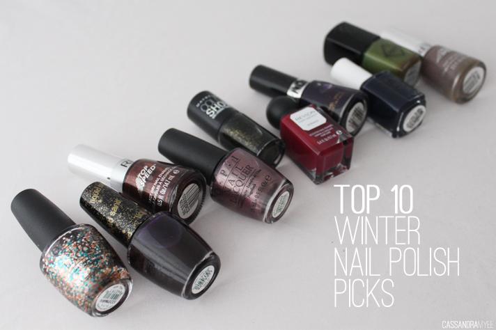 TOP 10 // Winter Nail Polish Picks - cassandramyee