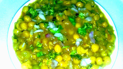 मटर छोला बनाने की विधि - matar chola recipe - how to make matar chola - matar chola recipe in hindi