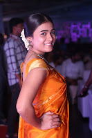 Shalini Pandey in Beautiful Orange Saree Sleeveless Blouse Choli ~  Exclusive Celebrities Galleries 006.JPG