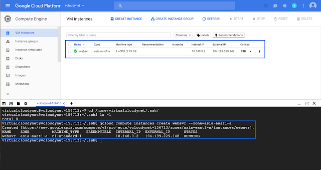Walkthrough Tutorial : Compute Engine SSH Keys on Google Cloud
