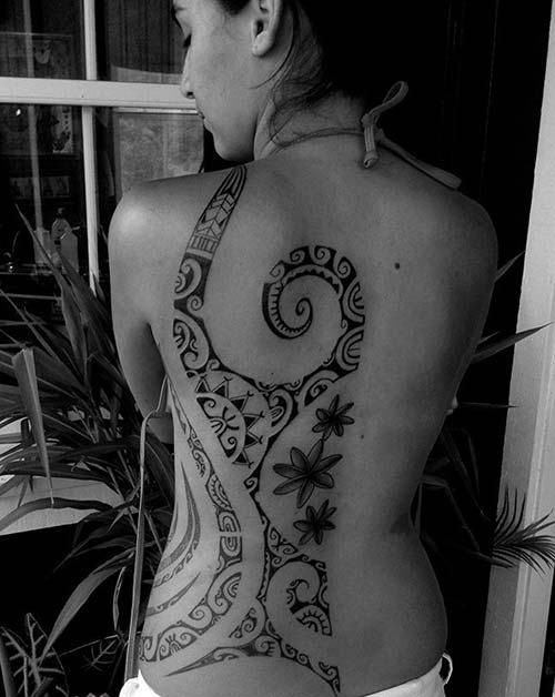 kadın maori tribal dövmeleri woman maori tribal tattoos 27
