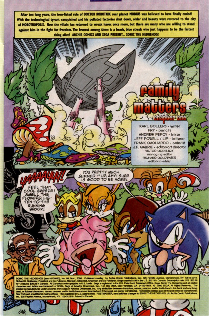 Read online Sonic The Hedgehog comic -  Issue #88 - 2