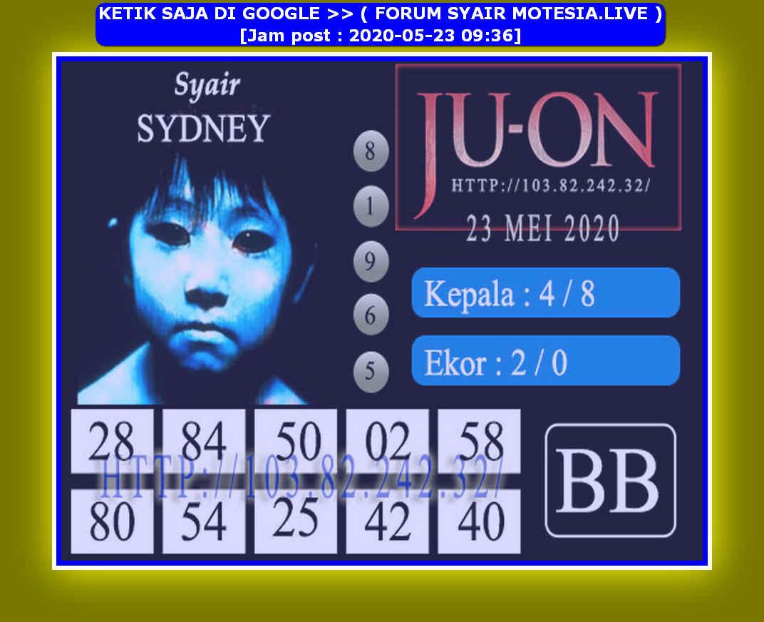 Kode syair Sydney Sabtu 23 Mei 2020 164