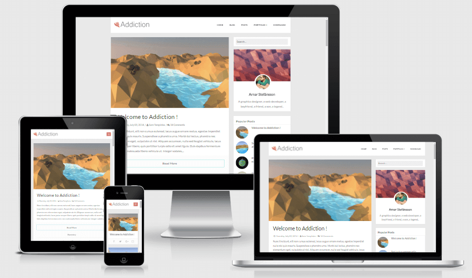 Addiction - Responsive Minimal Blogger Theme