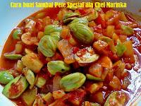 Cara buat Sambal Pete Spesial ala Chef Marinka