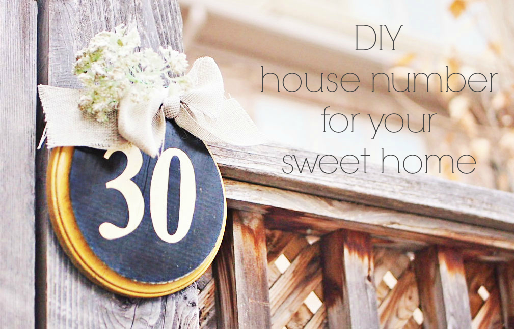 {Tutorial} How to make a Cute House Number for Your Sweet Home