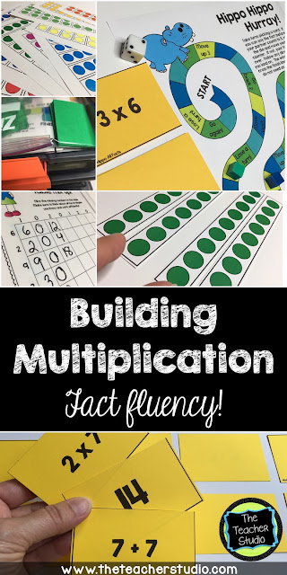 Teaching multiplication fact fluency is critical...but there is a research based way to tackle it. This post has multiplication fact game, activity, and strategy ideas for you to use to help students master their multiplication facts. Grade 3 multiplication, grade 4 multiplication, multiplication strategies, fact fluency