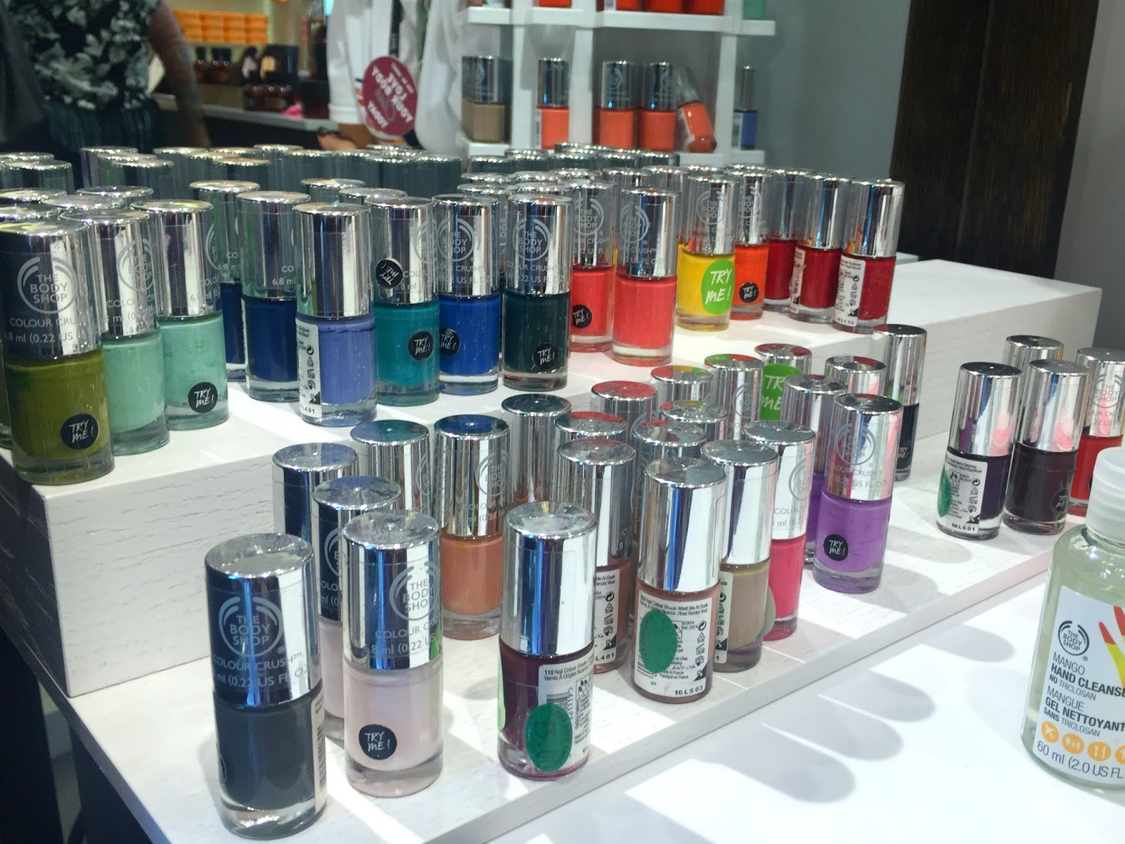 The Body Shop Southampton Spa Of The World Event Colour Crush Nail Varnishes
