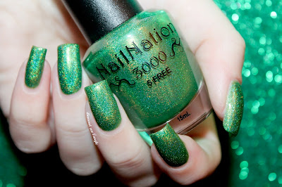 "Swatch of the nail polish ""Grinch In A Blender"" from NailNation 3000"