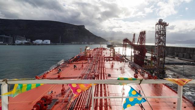 """El """"Eagle San Francisco"""" realiza su primera descarga de crudo en la Terminal Marítima de Petronor"""