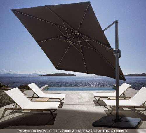 prix parasol jardin inclinables rectangulaires d port s. Black Bedroom Furniture Sets. Home Design Ideas