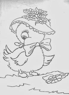 Desenho de patinhas com chapéu para pintar