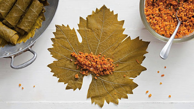 in the UK are thought of as wrapped vine leaves Spiced burghul wrapped in vine leaves (yaprak sarma) recipe
