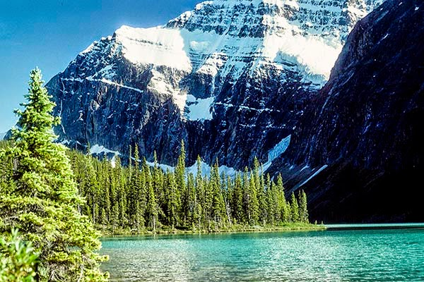 Mount Edith Cavell and Lake Cavell