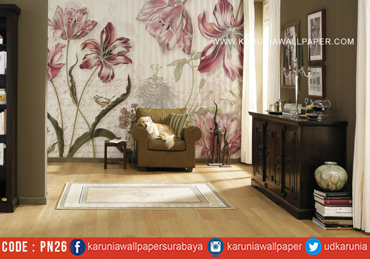 jual wallpaper photowall bunga