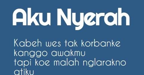 Kata Kata Putus Cinta Versi Bahasa Jawa