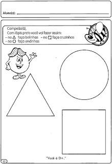 Formas geométricas para colorir