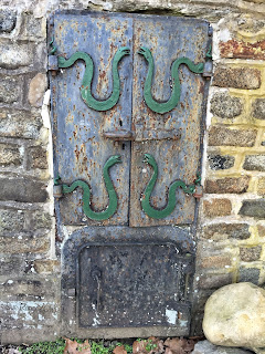 Iron oven doors at Indian Steps Museum