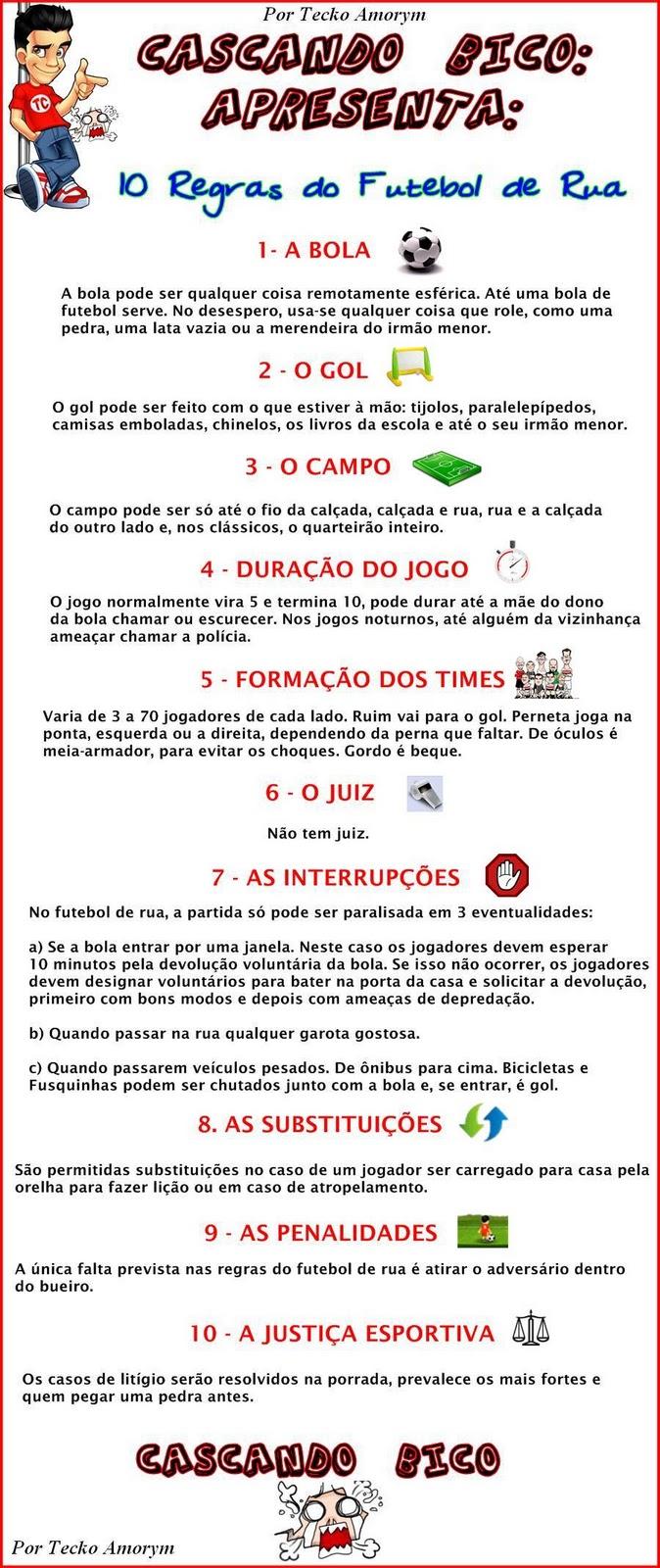 466976d205 Cascando Bico  Regras do Futebol de Rua