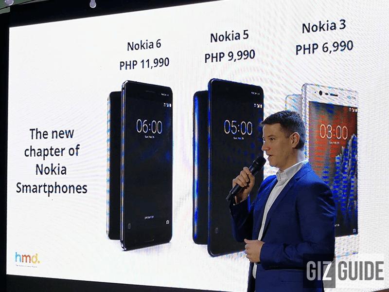 Nokia 3, 5, 6 smartphones