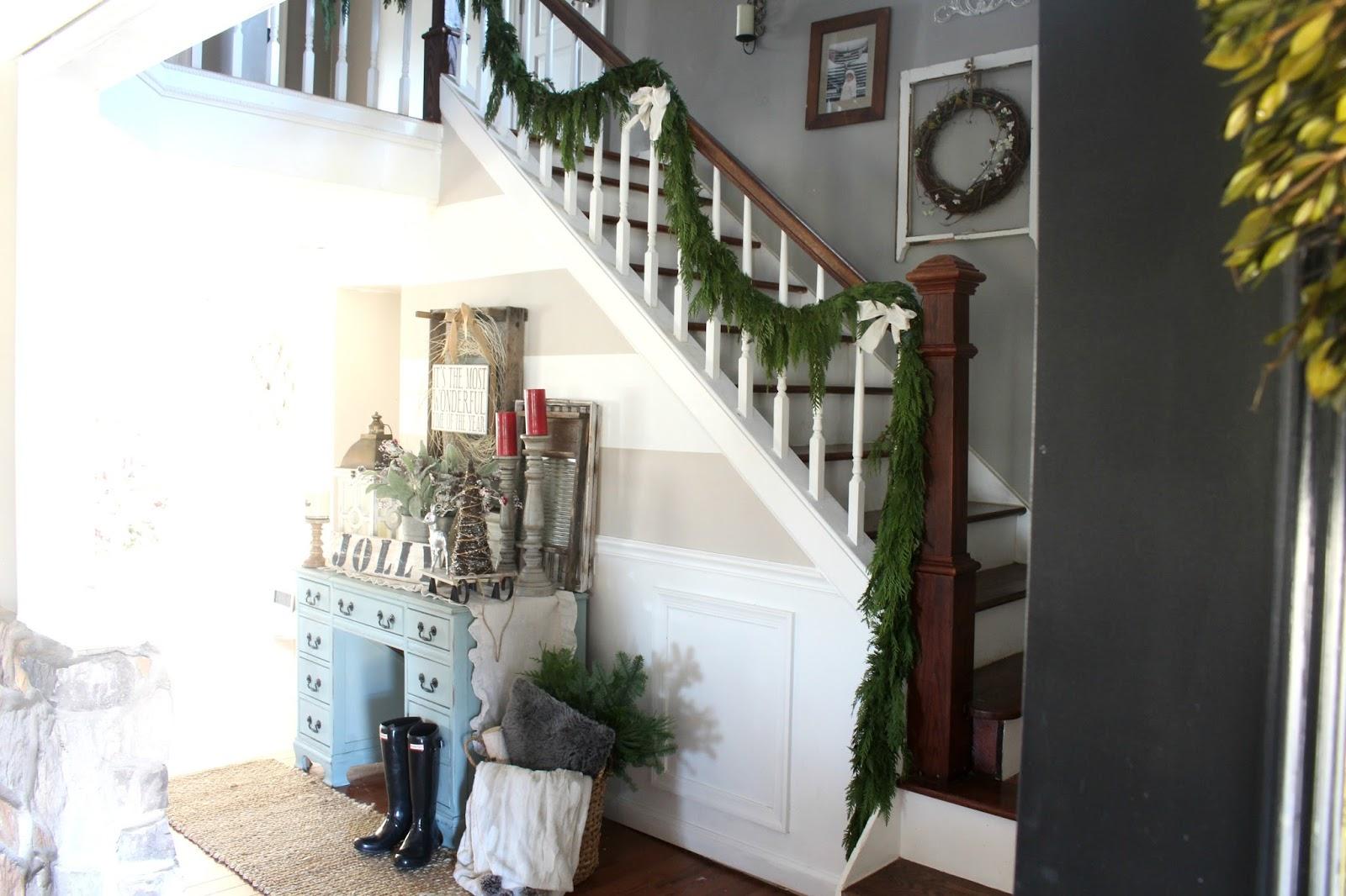 Farmhouse Foyer S : Rustic farmhouse christmas entryway the glam