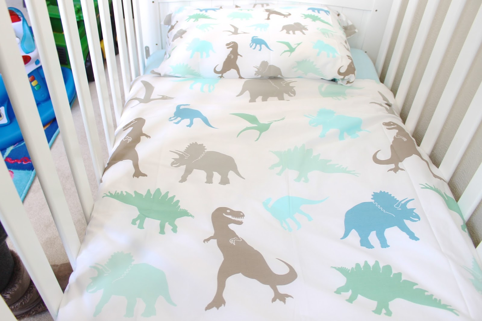 I Love How Well It Matches The A Blue Cot Sheet And Modern Yet Perfect For Little Boy Is Suits His Room Perfectly