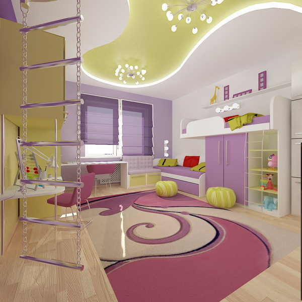 Coolest Room Designs: Bright Interiors Children's Rooms And Cool Designs For