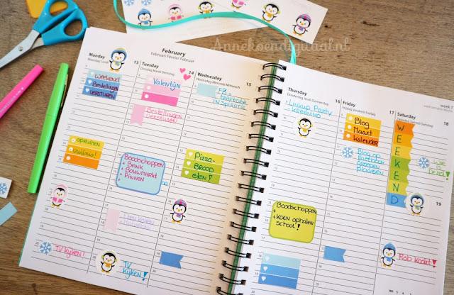 action agenda kopen, stickers zelf printen, print je stickers, agenda pimpen, stickers plakken, papermate stiften