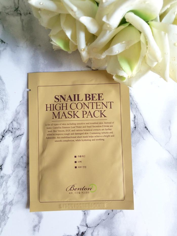 Benton Snail Bee High Content Mask Pack - 10er Pack - 24.95 Euro - Misun