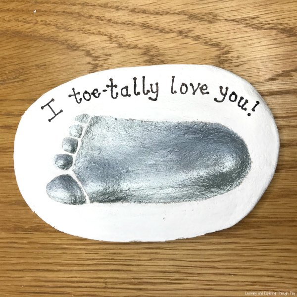 I Toetally Love You Foot Print Keepsake
