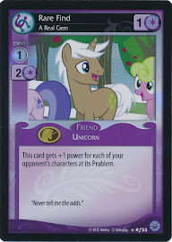 My Little Pony Rare Find, A Real Gem Premiere CCG Card