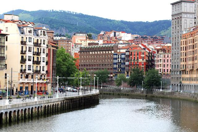 The river in Bilbao, Spain - London travel blog